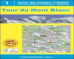 Icicle Books & Maps - Tour Mont Blanc 1:50k map