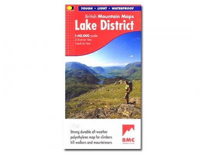 Lake District, British Mountain Map