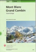 Mont Blanc, Grand Combin 1:50000, Swiss 5003